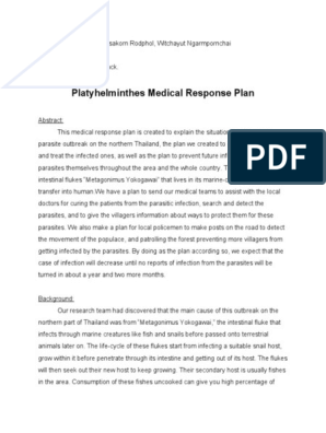 a helminthiasis praziquantel kezelése részecske, mint egy parazita
