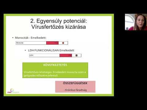 megnövekedett monociták parazitákkal)