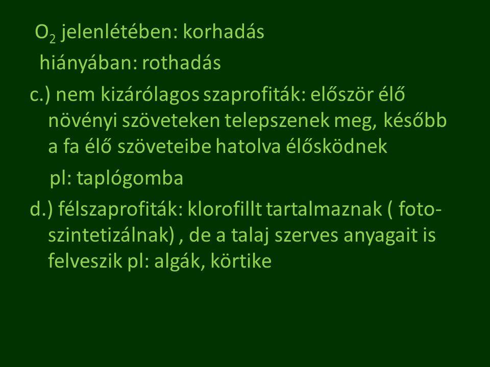 szerves paraziták)