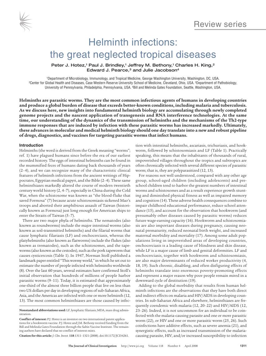 Helminthiasis esetek a Fülöp szigeteken, Parazita permetező